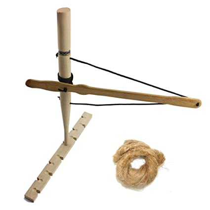 POWER PARACORD Foolproof Bow and Drill Primitive Fire Bow Drill kit  Friction Fire Natural Wooden Friction Educational Learning