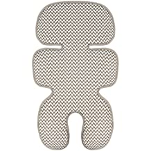 Manito Clean Basic 3D Mesh Seat Pad/Cushion/Liner for Stroller and Car Seat (Zigzag Beige)