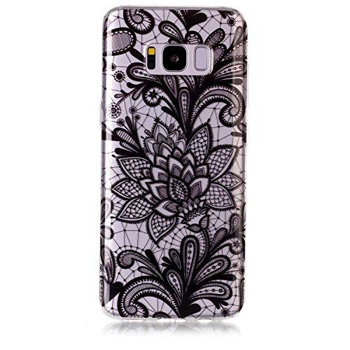 mokyo Samsung Galaxy S8Funda Suave, transparente Gel TPU Funda de silicona con [libre Stylus Lápiz] antigolpes antiarañazos Teléfono de buzón Super fina goma Rubber Carcasa Transparente jalea piel Sa Spitze Henna