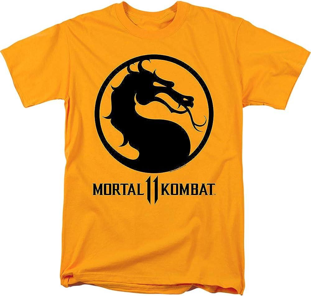 Amazon Com Mortal Kombat 11 T Shirt Dragon Logo Gold Tee Clothing