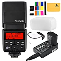 Godox V350O TTL 2.4G Camera Flash with Built-in Rechargeable 7.2V/2000mAh Li-ion Battery for Olympus/Panasonic Cameras