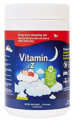 Vitamin Zzzz Sleep Powder 2 Month Supply ~ from DvRyl ~ Relaxation and Sleep Enhancer with Vitamins, Minerals, Herbs and Amino Acids and Calm Stress