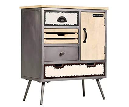 Metal Industrial Cabinet Vintage Retro Furniture Side Storage