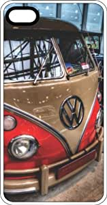 VW Van From The 60's White Rubber Case for Apple iPhone 5 or iPhone 5s