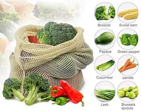 Bolsas reutilizables de malla de algodón biodegradables para ...
