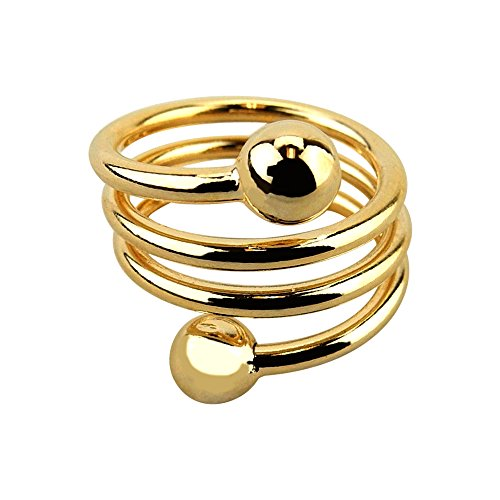 Accupressure Weight Loss Ring - Adjustable Band - Gold ()