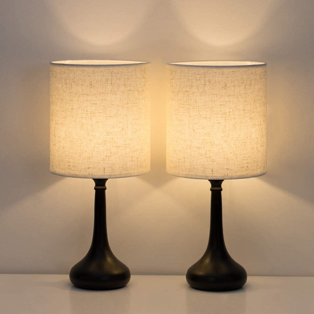 HAITRAL Bedside Table Lamps Set of 2