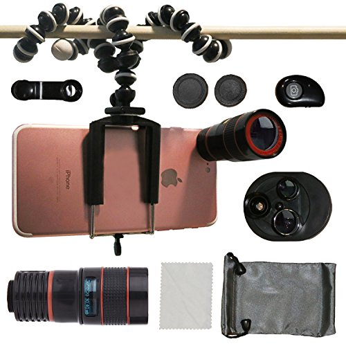 Phone Camera Lenses, Collasaro Camera Lens Kit with HD Telephoto Lens, Fish-Eye...