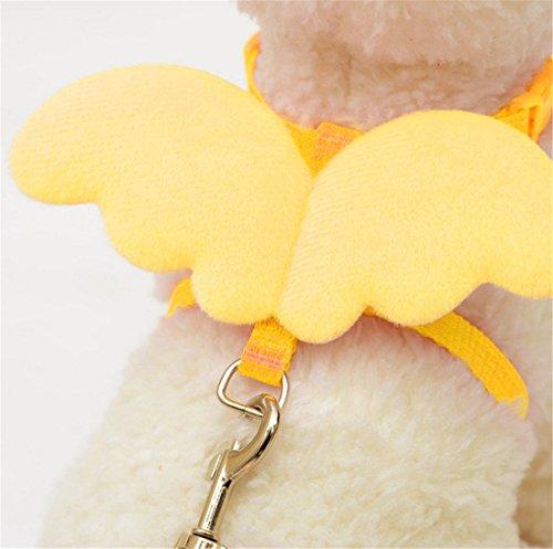 [Adjustable Pet Chain,Hemlock Angel Wing Puppy Dog Suit Collar Cloth (S, Yellow)] (Diy Costumes Kids)