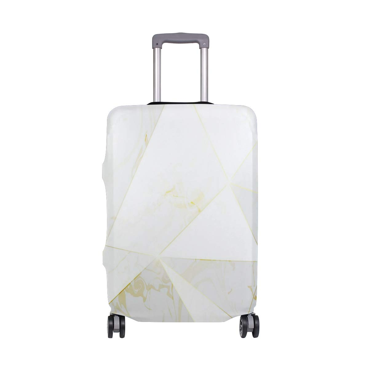 Rose Gold Geometric Pattern Traveler Lightweight Rotating Luggage Cover Can Carry With You Can Expand Travel Bag Trolley Rolling Luggage Cover