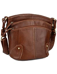 Yaluxe Women's Large Capacity Leather Tote Everyday Shoulder Bag