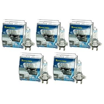 10er Set 12V 55W H7 weiß Glühlampe Glühbirne Halogen 10er Set