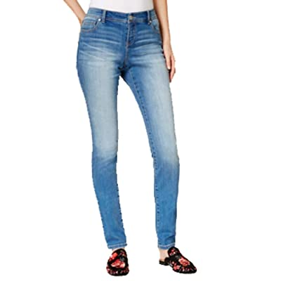 INC International Concepts INCEssentials Curvy-Fit Skinny Jeans (Northward Wash, 0) at Women's Jeans store