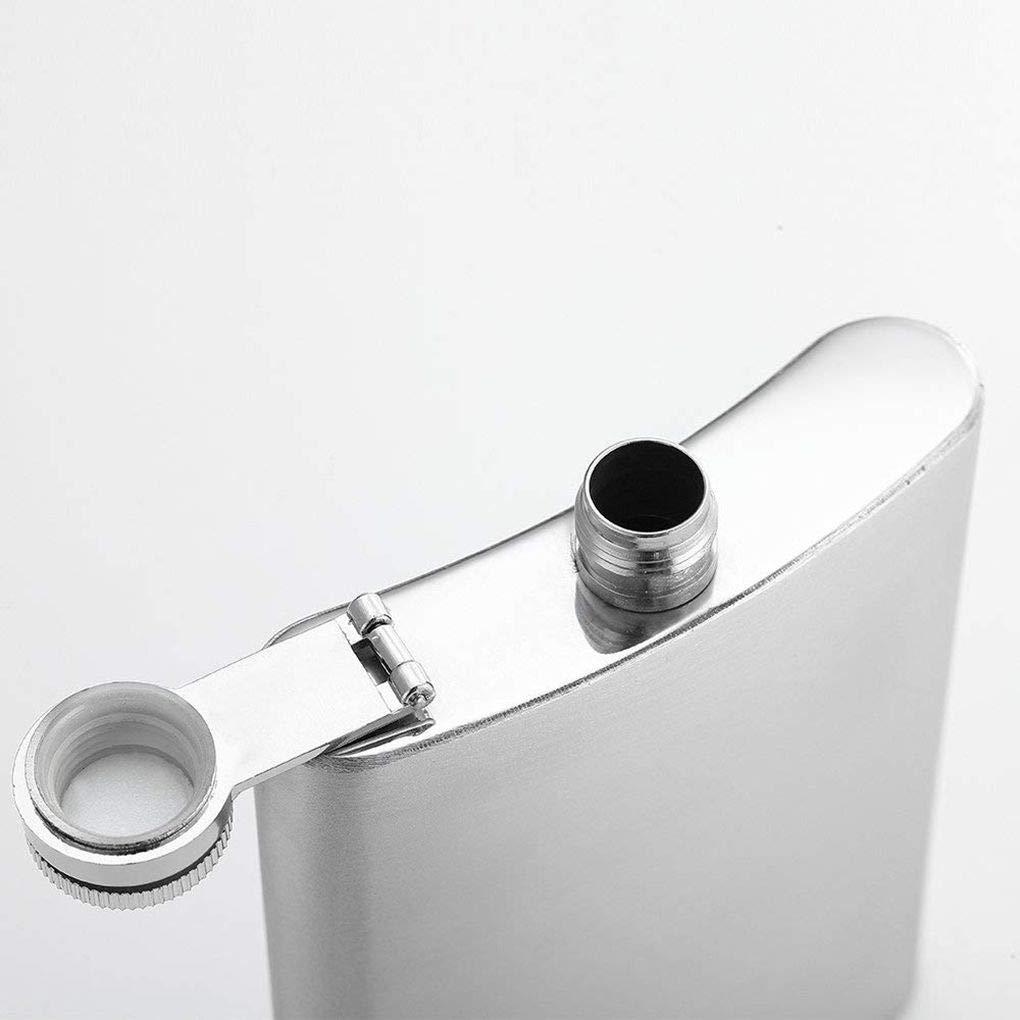 BoburyL Mini Hip Portable Flask 4 5 6 7 8 9 10 18 oz Hanche en Acier Inoxydable Bouteille dalcool Lalcool Flasque Cap Entonnoir # 2 9 oz
