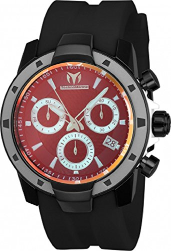 Technomarine Men's 'UF6' Quartz Stainless Steel and Silicone Casual Watch, Color:Black (Model: