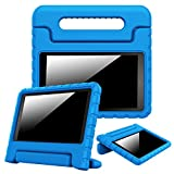 Fintie Case for Amazon Fire HD 8 (Previous Generation - 6th) 2016 release, [Kiddie Series] Shock Proof Light Weight Convertible Handle Stand Cover Kids Friendly, Blue