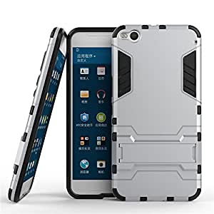HTC One X9 Case, OYYC - High Impact Resistant Dual Layer Armor Holster With Stand Defender Full Body Protective Hybrid Armor Case for HTC One X9 [Silver]