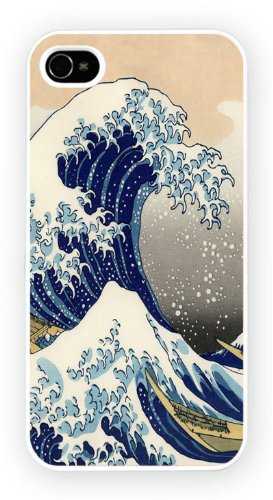 Hokusai The Great Wave Art Design, iPhone 6, Etui de téléphone mobile - encre brillant impression