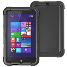 HP Stream 7 Case - Poetic [Turtle Skin Series] - [Corner/Bumper Protection] [Grip] [Sound-Amplification] Protective Silicone Case for HP Stream 7 Black (3-Year Manufacturer Warranty From Poetic)