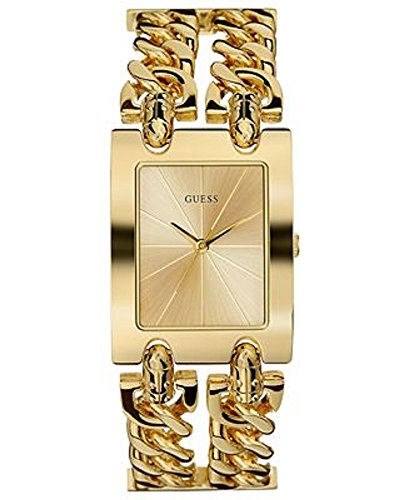 GUESS Women's U12648L1 Brilliance on Links Gold-Tone Bracelet Watch