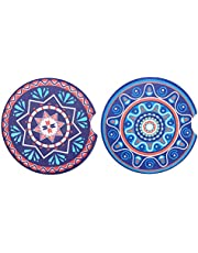 Upriver 2 Pack Car Coasters, Absorbent Car Coasters, Car Coaster for Cup Holders, Cute Ceramic Car Drink Holder Coasters for Keep Cup Holder Clean