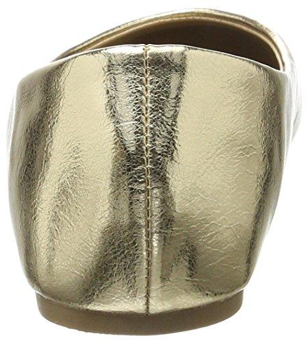 Vero Moda Women's Vmstar Ballerina Closed Toe Ballet Flats, Goldfarben/Schwarz Gold (Pale Gold Pale Gold)