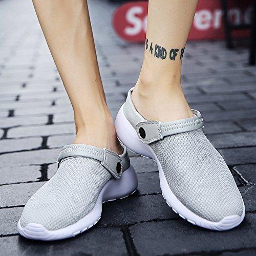 SCIEU Pantoufles Gris Anti Respirant Sandales Hommes Chaussures Jardin Dérapant de D'Été Plage wwr5OUqP