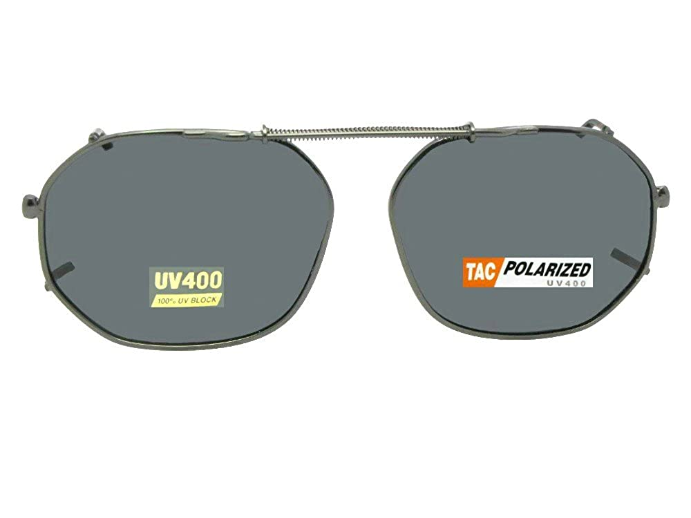 6d3135833 Amazon.com: Round Square Polarized Clipon Sunglasses (Dark Bronze-Polarized  Amber Lens, 50mm Width x 38mm Height): Clothing