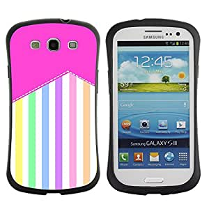 Paccase / Suave TPU GEL Caso Carcasa de Protección Funda para - Stripes Pattern Pastel Colorful Happy - Samsung Galaxy S3 I9300