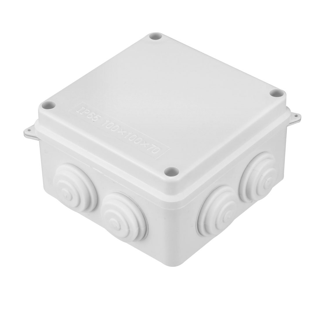 sourcingmap 109 x 109 x 66mm Electronic Plastic DIY Junction Box Enclosure Case White a18032100ux0321