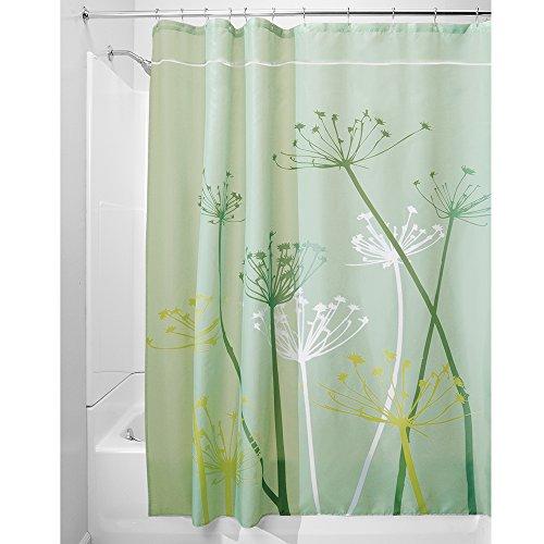 Green Thistle (InterDesign Thistle Shower Curtain, Green, 72