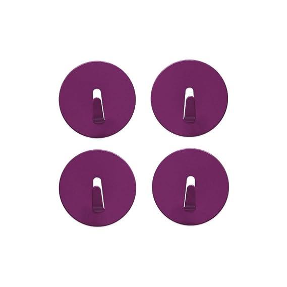 verschieden Farben 4er Set extra stark f/ür den allt/äglichen Gebrauch Magnethaken MINI-SPOT /Ø 4cm Farben:Edelstahl