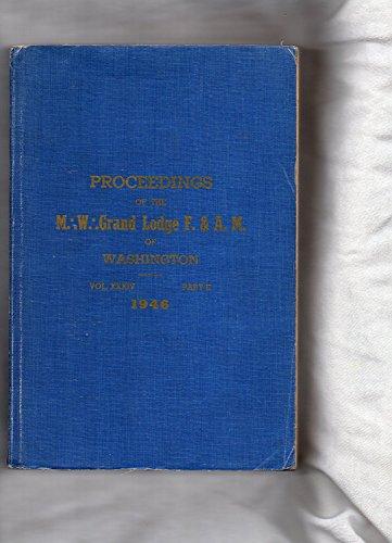 1946 California MASONIC - Grand Lodge F. & A. M. Proceedings-Washington PROCEEDINGS - Washington Airport Shops