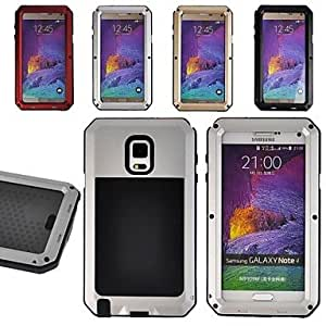 HP FITIN? Aluminum Waterproof Shockproof Dirtproof Gorilla Glass Case for Samsung Galaxy Note 4 (Delivery color)¡ú(Golden)