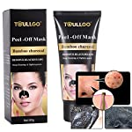 Black Peel off Mask, Blackhead Remover Mask, Charcoal Black Mask, Peel off Purifying Pore Mud, Blackhead Remover Remove Blackheads, Deep cleansing Dead Skin, Acne, Oil Control (60ml)