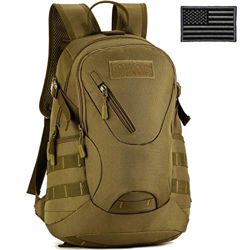 ArcEnCiel Men Tactical Bags Men Travel Bags Ultralight Hunting Range Soldier Ultimate Stealth Heavy Duty Carrier Backpack Water-Resistant with Patch (Coyote Brown) (Best Hunting Travel Bags)