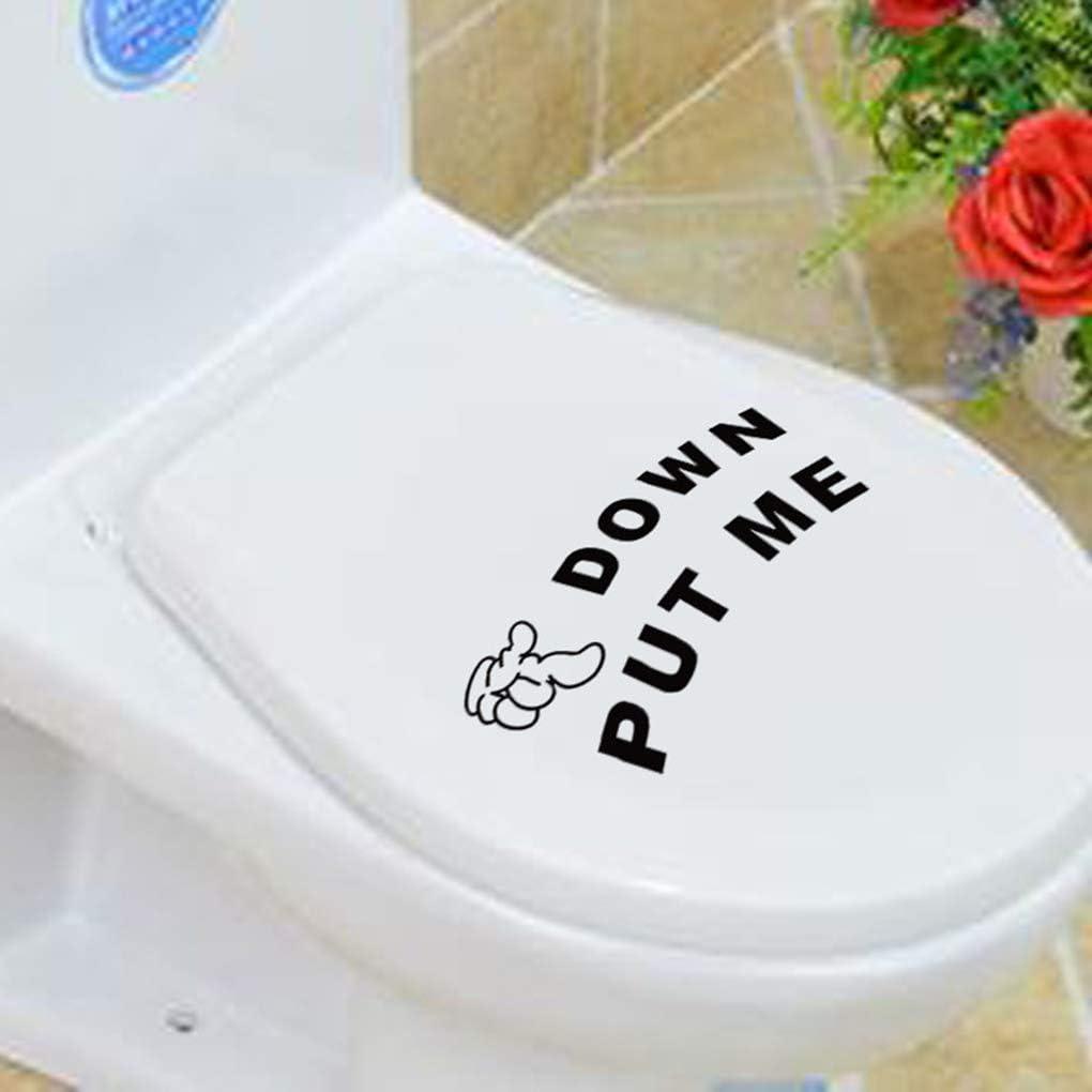 royalr Stilvolle Put Me Down Gesture Hand Aufkleber Mich Put Aufkleber Badezimmer WC wasserdichte Kleber-Aufkleber-Zeichen