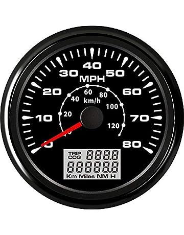 ELING Car Motorcycle Boat GPS Speedometer Odometer 0-80MPH 0-120KM/H ATV