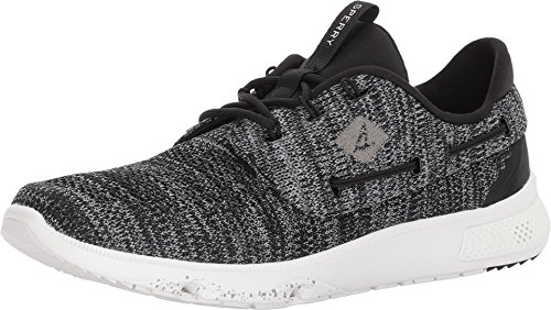 (SPERRY Men's 7 Seas 3-Eye Knit Black Oxford)