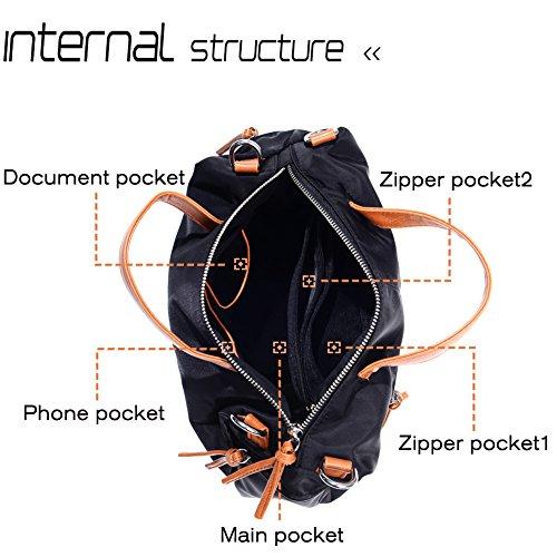 Large Handbag Fashion Shoulder Bag Travel Tote Bag For Women (Brown) by Vintga (Image #5)