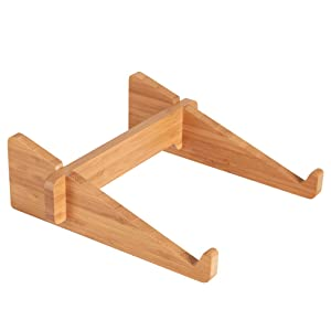 """Computer Stand for Laptop MTWhirldy Portable Laptop Stands Mounts for MacBook Notebooks 11-15"""" Natural Bamboo"""