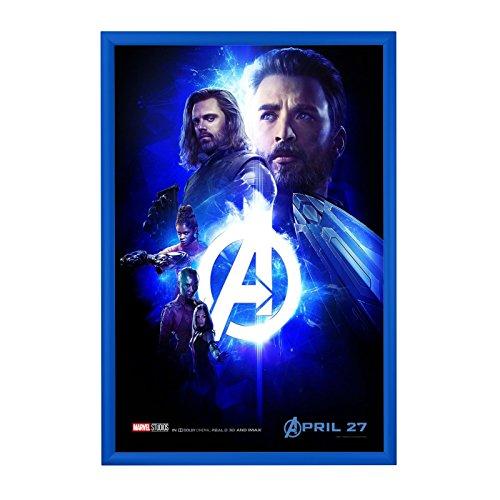 "SnapeZo Poster Frame 24x36 Inch, Blue 1"" Aluminum Profile, F"