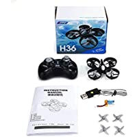 JJRC H36 Mini 2.4G 4CH 6Axle Gyro Mini Drone with Headless Mode Remote Control RC Quadcopter RTF One-key Return (Gray)