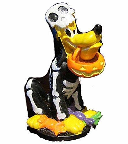 Pluto Dog Skeleton Halloween Costume Figurine ()