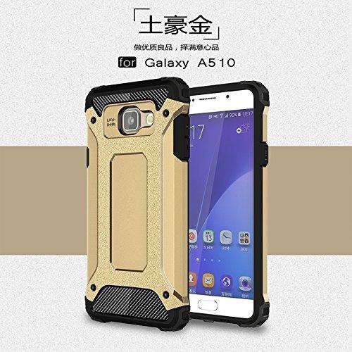 Tough Hybrid Dual Layer Case for Samsung Galaxy A510 A5 2016 (Gold) - 7