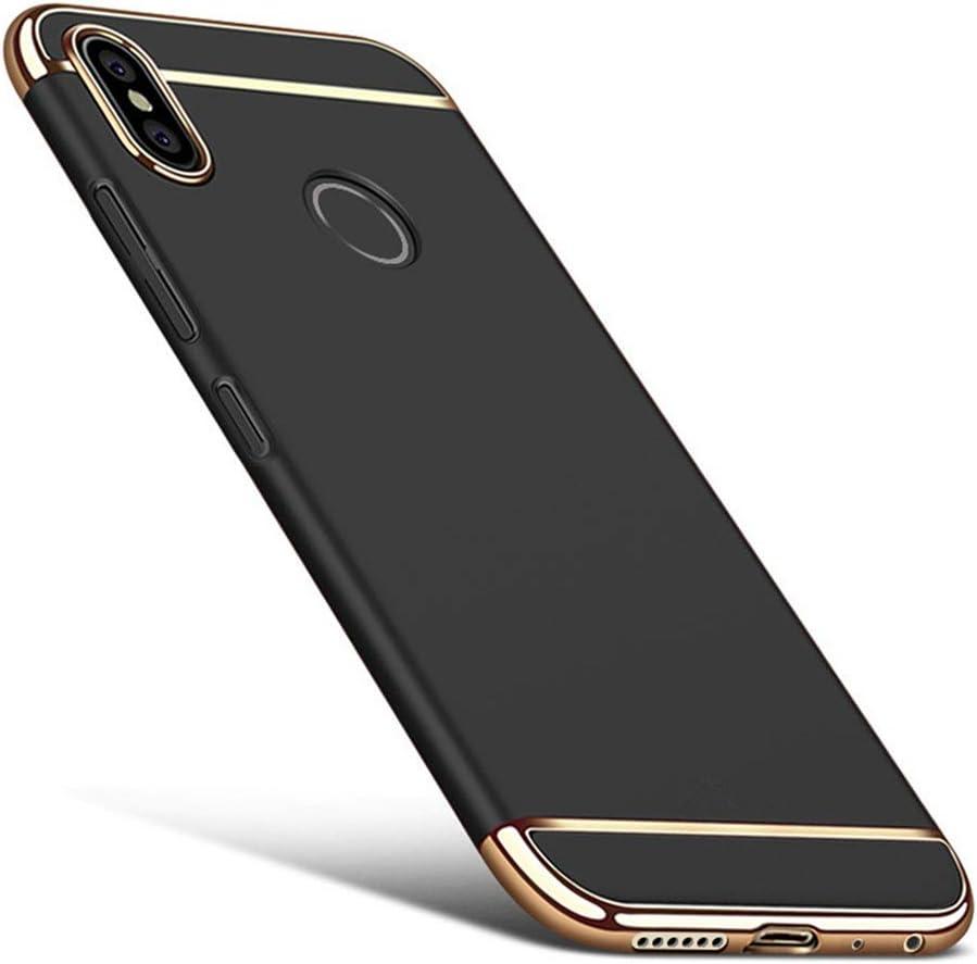 DESCHE para Funda Xiaomi Redmi Note 5/Pro Funda Mate a Prueba de Golpes y arañazos+Vidrio Templado, Protección 360° Funda Compatible Xiaomi Redmi Note 5/Pro Negro