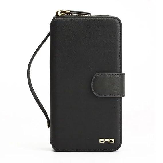 big sale f2e50 cfa75 Amazon.com: Samsung S7 Edge Wallet Case, BRG Fashion PU Leather ...