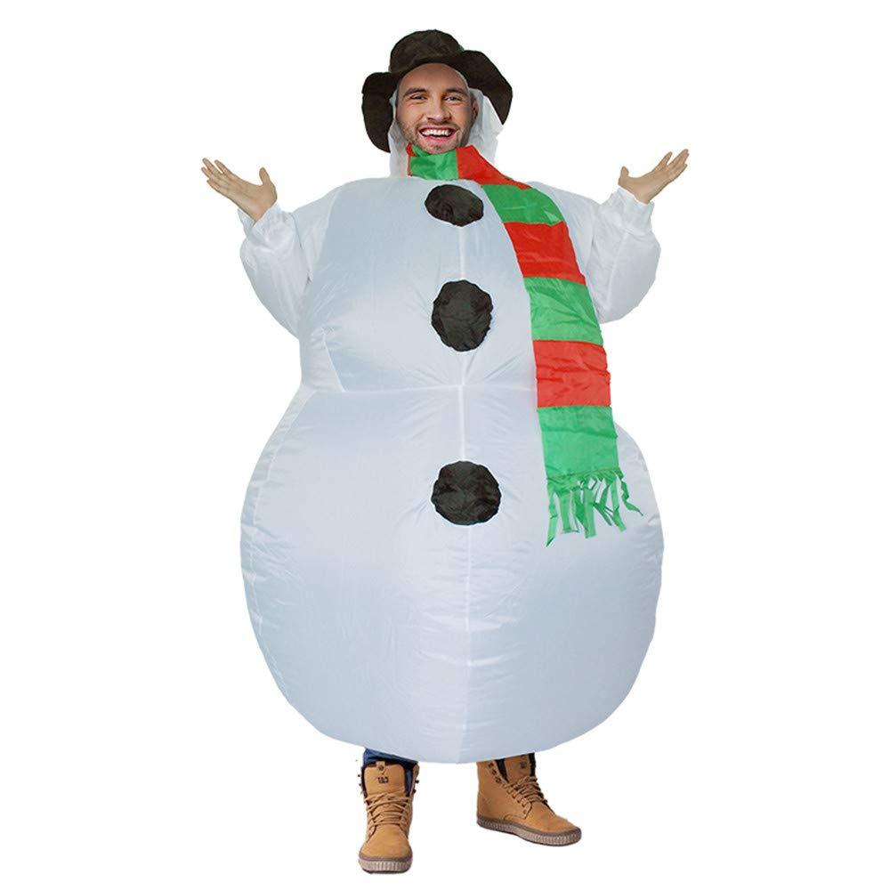 Fcostume Party Uniformen aufblasbare aufblasbare Karneval Kostüme Kostüme Kostüme Weihnachten Schneemann Cosplay (Weiß) 1e6edb