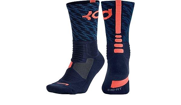 Nike KD Hyperelite Basketball Crew - Calcetines Unisex, Color Azul Marino/Naranja, Talla M: Amazon.es: Zapatos y complementos