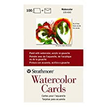 Strathmore 105650 Watercolor Cards, 5-Inch x 7-Inch, 100-Pack